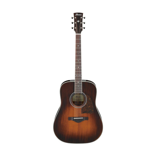 Ibanez AVD10E-BVS Artwood Vintage Thermo Aged Acoustic Guitar w/Electronics, Brown Violin Sunburst