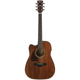Ibanez AW54LCE-OPN Artwood Left-Handed Acoustic Guitar w/Electronics, Open Pore Natural