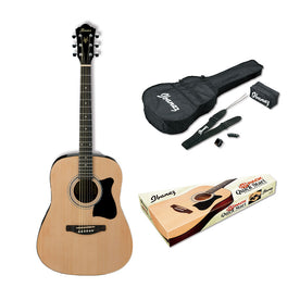 Ibanez V50NJP-NT Jam Pack Acoustic Guitar, RW Neck, Natural