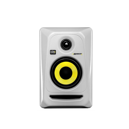 KRK RP4G3W Rokit Powered 4 Generation 3 Active Studio Monitor, White - Each
