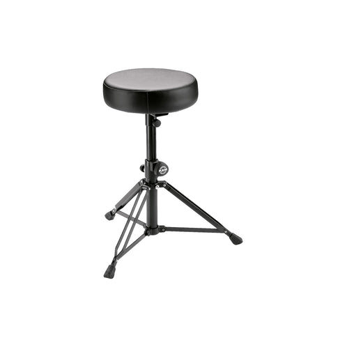 K&M 14015-000-55 14015 Drum Throne, Black Leather