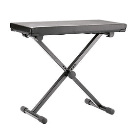 K&M 14075-000-55 Keyboard Bench, Black Leather