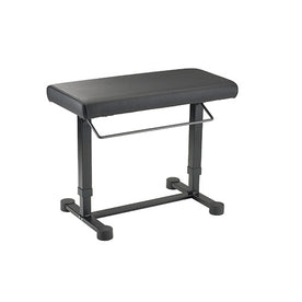 K&M 14080-000-55 14048 Uplift Piano Bench, Black Leather