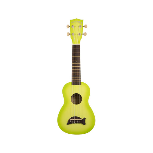 Kala MK-SD-GRNBURST Makala Dolphin Ukulele, Green Apple Burst