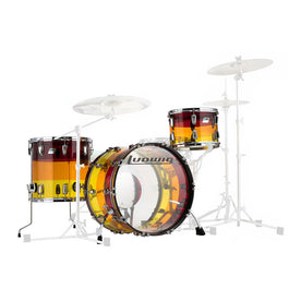 Ludwig L9223LXTSWC Vistalite 3-Piece Shell Pack LIMITED EDITION, Tequila Sunrise