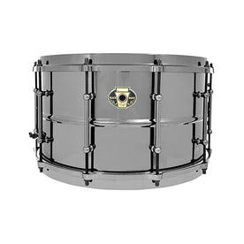 Ludwig LW0814C 8x14inch Black Magic Snare w/ Chrome Hardware and 2.3mm Hoops