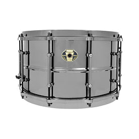 Ludwig LW0814 8x14inch Black Magic Snare w/ Black Nickle Hardware and Die-Cast Hoops