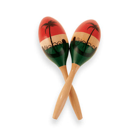 Latin Percussion CP287 Wood Maracas, Medium/Painted