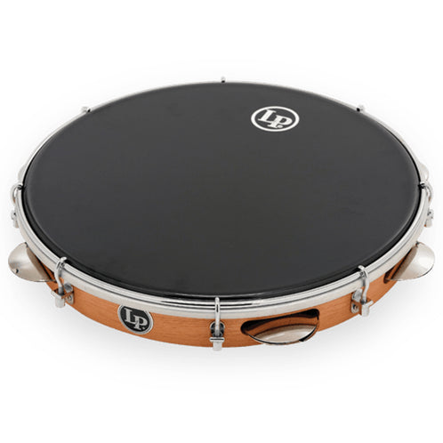 Latin Percussion Brazilian Wood Pandeiro with Synthetic Head, 12 Inch