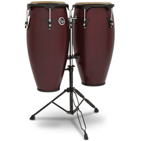 Latin Percussion LP646NY-DW 10&11inch City Conga Set, Dark Wood