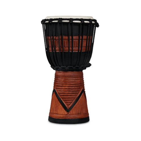 Latin Percussion LP713SB World Beat WoodArt Small Djembe, Black/Brown