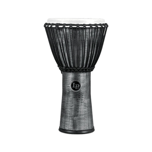 Latin Percussion LP724G 11inch World Beat FX Rope Tuned Djembe, Synthetic Head, Grey