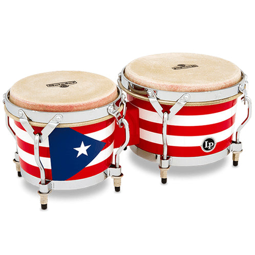 Latin Percussion LPM199-PR Music Collection Puerto Rican Mini Tunable Wood Bongo