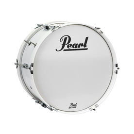 Pearl MJB1608/CXN-33 16x8inch Junior Marching Bass Drum w/MCH-20B Carrier, Pure White