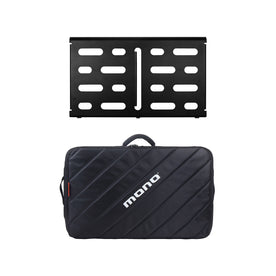 MONO Pedalboard Medium, Black and Tour Accessory Case 2.0, Black