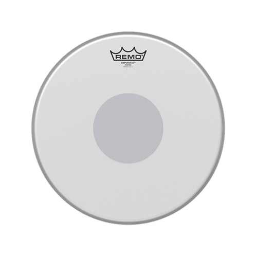 Remo BX-0113-10 13inch Emepror X Batter Coated Black Dot Bottom Drum Head