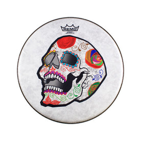 Remo CS-0814-20-AB002 14inch Jose Pasillas ArtBEAT Artist Collection Drum Head, Candy Skull