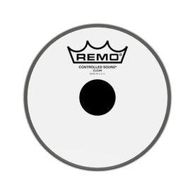 Remo CS-0306-10 6inch Controlled Sound Clear Black Dot On Top Batter Drum Head