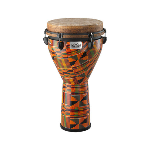 Remo DJ-0012-PM Key-Tuned 12inch Djembe, Fabric Kintekloth