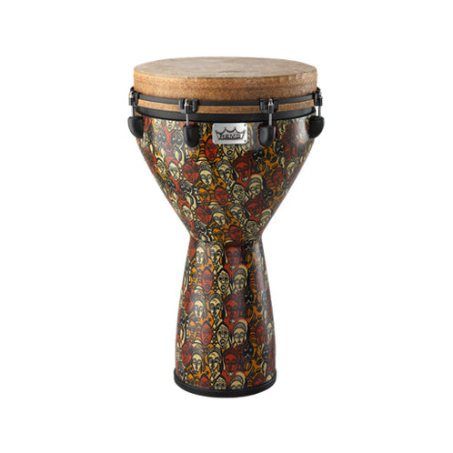 Remo DJ-0014-LM Leon Mobley 14inch Key-Tuned Djembe, Multi-Mask