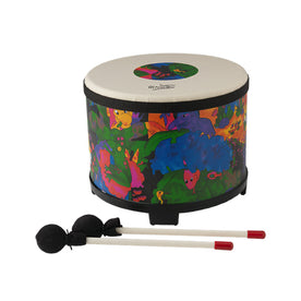 Remo KD-5080-01 10inch Kids Percussion Floor Tom Drum, Fabric Rain Forest