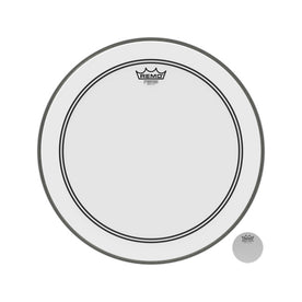 Remo P3-1218-C2 18inch Bass Powerstroke III Smooth White White Falam Patch Drum Head