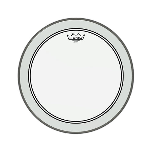 Remo P3-1316-C2 16inch Powerstroke III Clear White Falam Patch Bass Drum Head