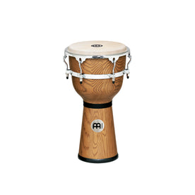 MEINL Percussion DJW3ZFA-M 12inch Floatune Series Wood Djembe, Zebra Finished Ash