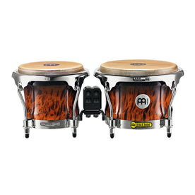 MEINL Percussion FWB400BB 7+8-1/2inch Professional Series Wood Bongo, Brown Burl