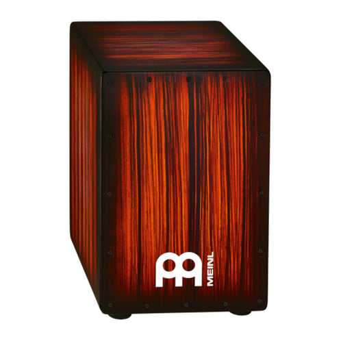 MEINL Percussion HCAJ2RTS Headliner Designer Series String Cajon, Tiger Striped Rojo