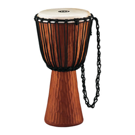 MEINL Percussion HDJ4-L 12inch Rope Tuned Headliner Series Wood Djembe, Nile Series