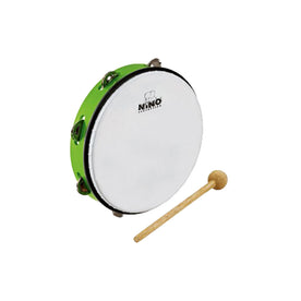 NINO Percussion NINO24GG 10inch ABS Jingle Drum, Grass Green