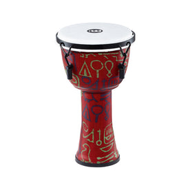 MEINL Percussion PMDJ1-S-F 8inch Mechanical Tuned Travel Djembe, Synthetic Head, Pharaohs Script