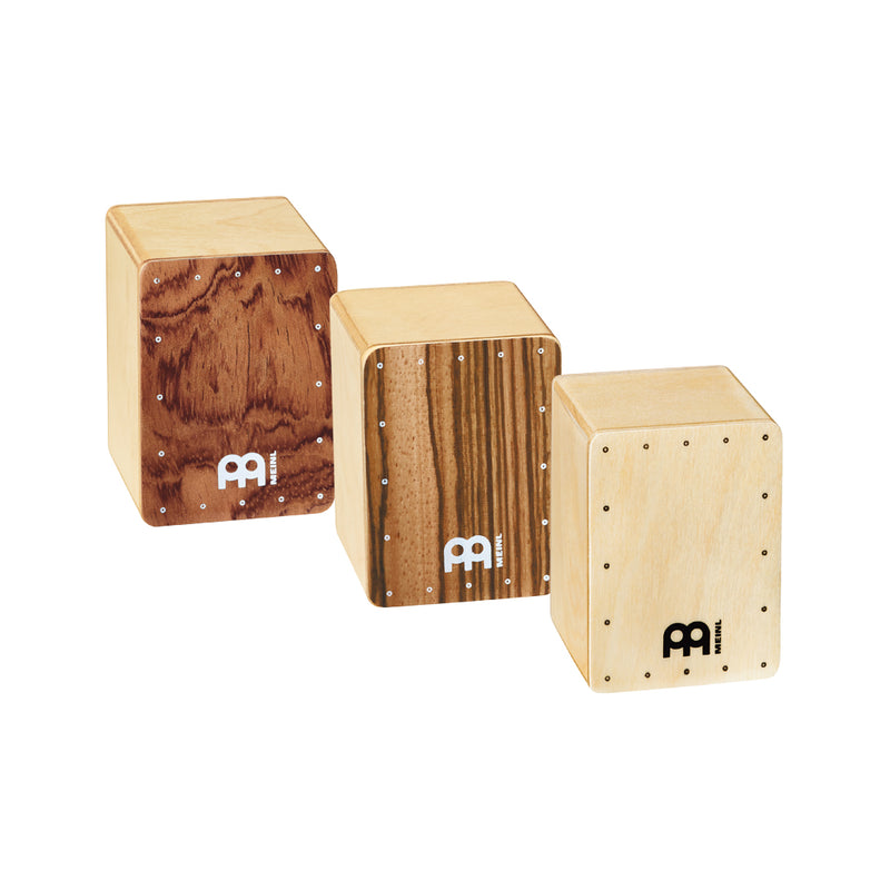 MEINL Percussion SH50-SET Mini Cajon Shakers, Assortment of 3