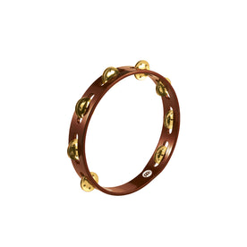MEINL Percussion TA1B-AB Traditional Wood Tambourine, Brass Jingles, 1 Row, African Brown