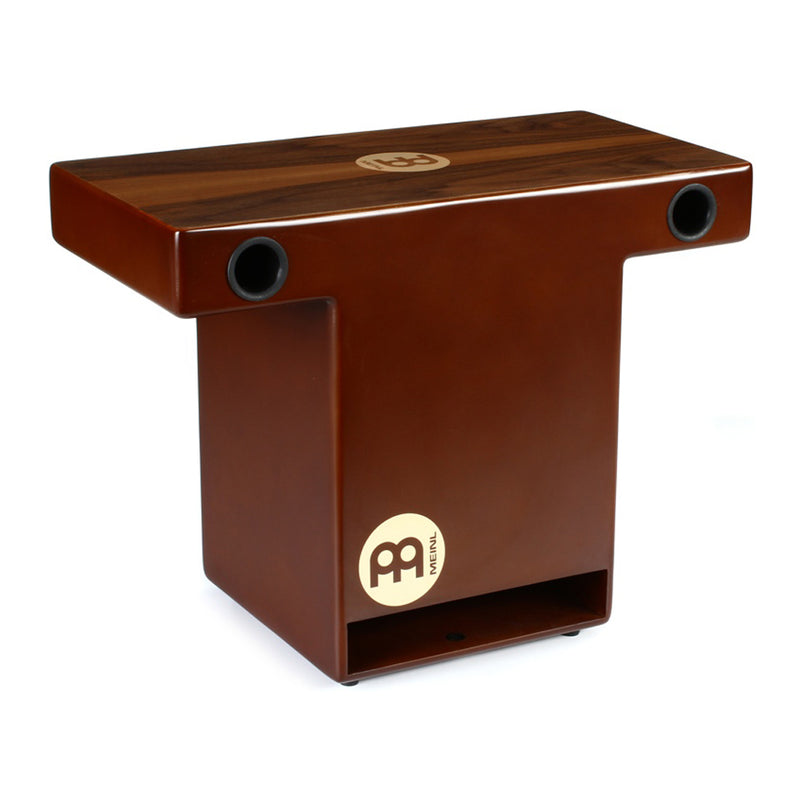 MEINL Percussion TOPCAJ2WN Turbo Slat-Top Cajon, Walnut