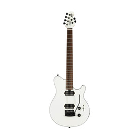 Sterling by Music Man Axis Electric Guitar, Jatoba FB, White w/Black Binding