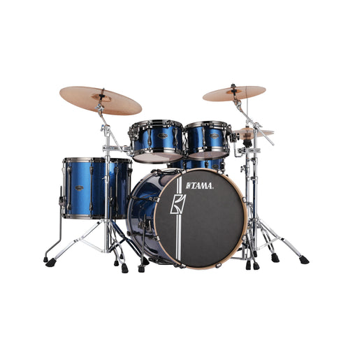 TAMA MK42HLZBNS-ISP Superstar Hyper-Drive Maple 4-Piece Drum Shell Kit, Indigo Sparkle