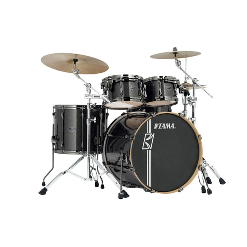 TAMA MK42HLZBNS-MGD Superstar Hyper-Drive Maple 4-Piece Drum Shell Kit, Midnight Gold Sparkle