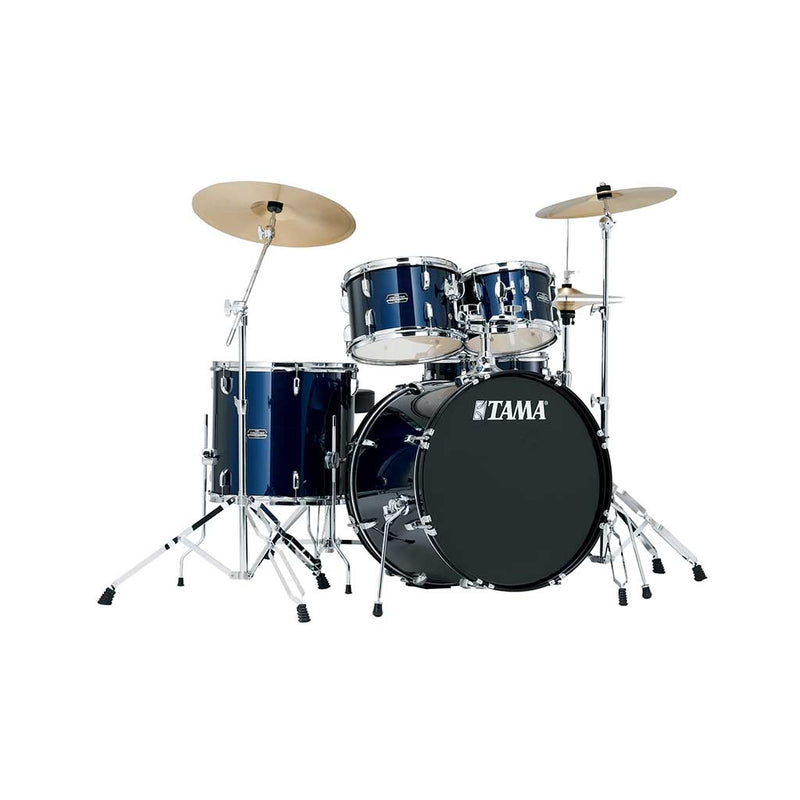 TAMA SG52KH6-DB Stagestar 5-Piece Drum Kit w/ Hardware+Throne, Dark Blue