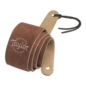 Taylor Suede Guitar Strap, Chocolate