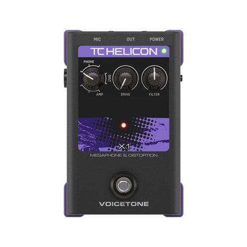 TC-Helicon VoiceTone X1 Megaphone and Distortion Vocals Effects Pedal (000-DE401)
