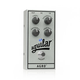 Aguilar Ltd Ed 25th Anniversary Silver Agro Overdrive Bass Guitar Effects Pedal