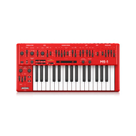 Behringer MS-1-RD Analog Synthesizer w/Hand Grip, Red, UK Plug