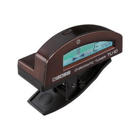 BOSS TU-10-BN Clip-On Chromatic Tuner, Brown