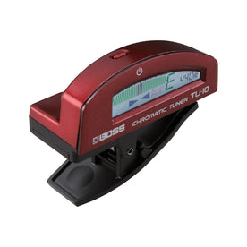 BOSS TU-10-RD Clip-On Chromatic Tuner, Red