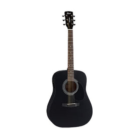 Cort AD810E-BKS Acoustic/Electric Guitar w/Bag, Black Satin