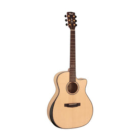 Cort Grand Regal GA-MY-BEVEL-NAT Bevel Myrtlewood Acoustic Guitar, Natural