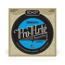 D'Addario EXP46 Coated Classical Guitar Strings, Hard Tension