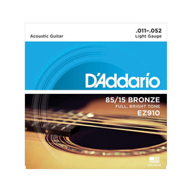 D'Addario EZ910 American Bronze Acoustic Guitar Strings, Light, 85/15